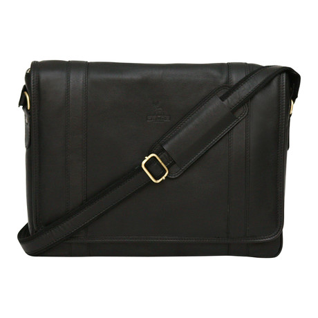 Siena Messenger Bag // Black