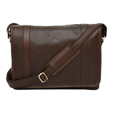 Siena Messenger Bag // Brown