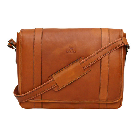 Siena Messenger Bag // Tan