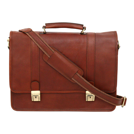 Ravenna Briefcase // Cognac