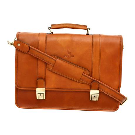 Ravenna Briefcase // Tan