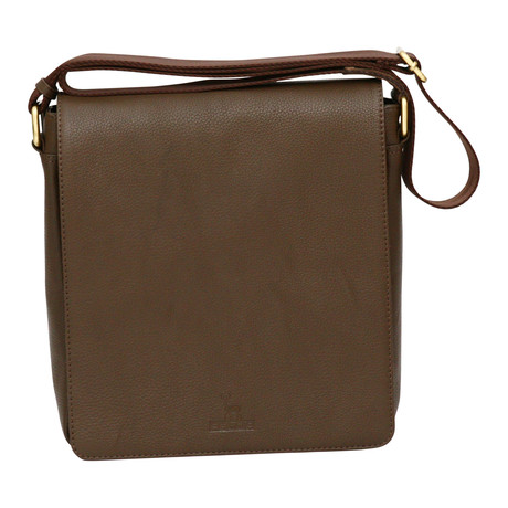 Catania Flapover Mini Messenger // Brown