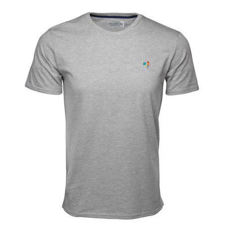 Embroidered T-Shirt // Heather Grey + Multi