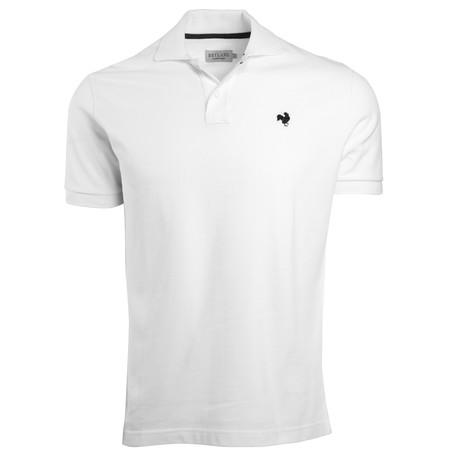 Secret Loop Short-Sleeve Polo // White + Navy (S)