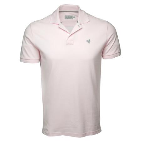 Secret Loop Short-Sleeve Polo // Pink + Gray (S)