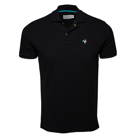 Secret Loop Short-Sleeve Polo // Black + Multi (S)