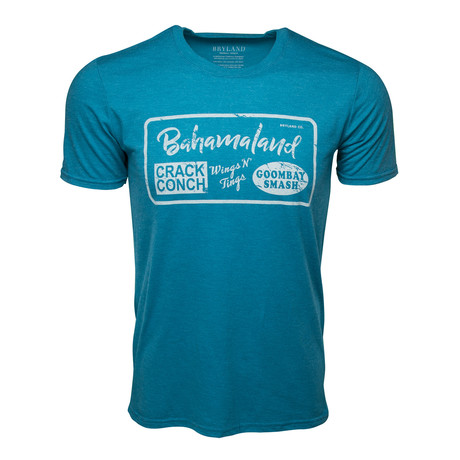 Bahamaland Printed T-Shirt // Teal (S)