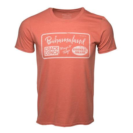 Bahamaland Printed T-Shirt // Coral