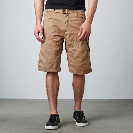 Twill Cargo Short // Khaki