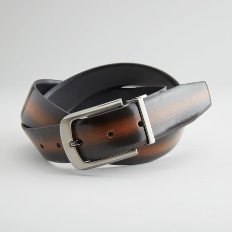 "Rub-Off Reversible Belt// Brown + Black (32"" Waist)"