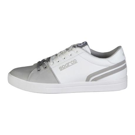 Vivaro Low-Top Sneaker // White + Grey