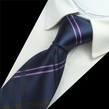 Alastair Tie // Navy + Purple