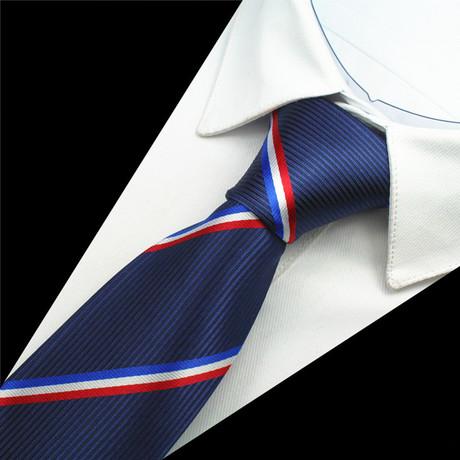 Bennet Tie // Navy + Red