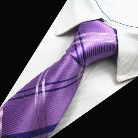 Augustine Tie // Lavender + Grey + Navy