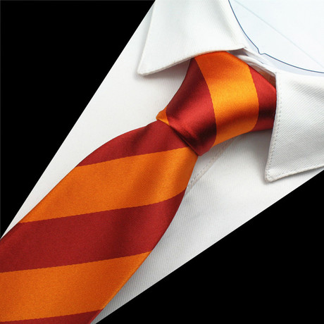 Brooke Silk Tie // Ochre Orange