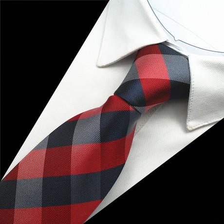 Harrison Tie // Navy + Red