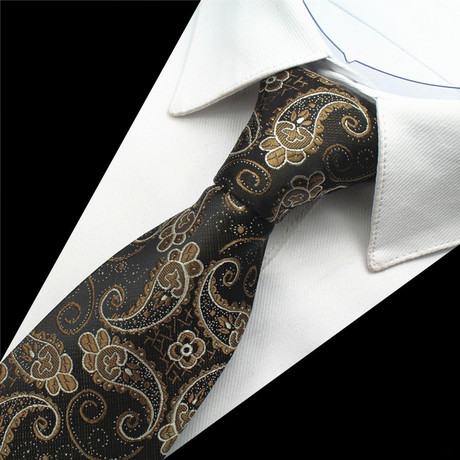 Julian Tie // Black + Gold