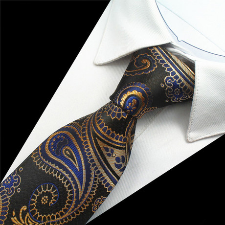 Persis Tie // Blue + Gold
