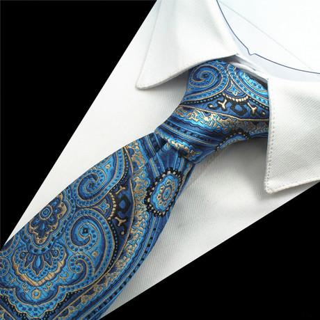 Kingsley Tie // Silver + Blue