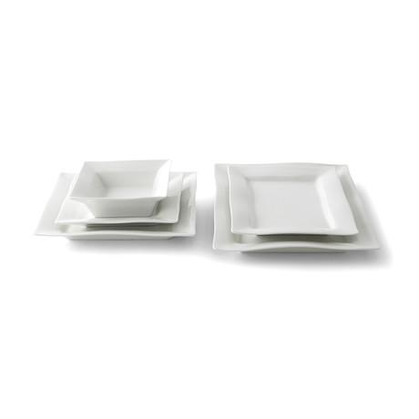 Square Dinnerware Set // 5 Piece Place Setting