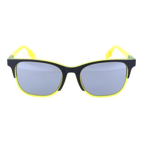 MCQ // Asymmetric Dual-Tone Wayfarer // Neon Yellow + Black