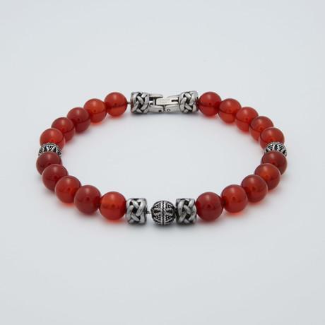 Jasper Bracelet // Red