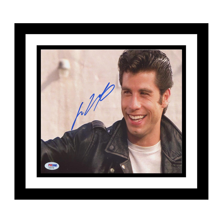 Brigandi collectibles signed music memorabilia touch of modern john travolta grease danny zuko signed photo jeuxipadfo Choice Image