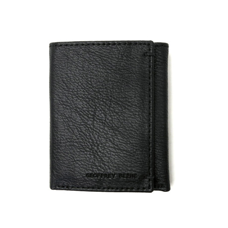 Burnished Trifold Wallet With RFID Blocking // Black