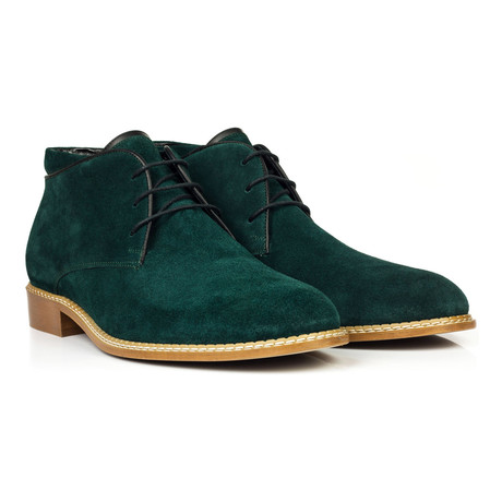 Suede Lace-Up Chukka // Green