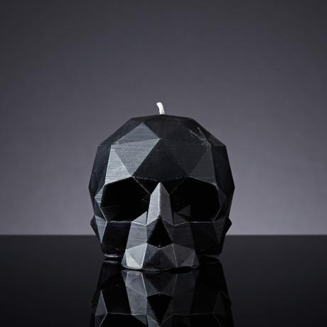 Geometric Skull Candle