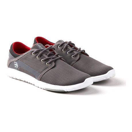 Scout Sneaker // Grey + Black + Red