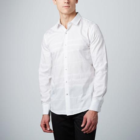 Monotone Plaid Button-Up Shirt // White