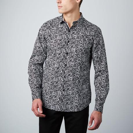 Bramble Button-Up Shirt // White + Black