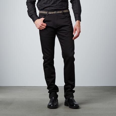 Deco Waistband Pant // Black
