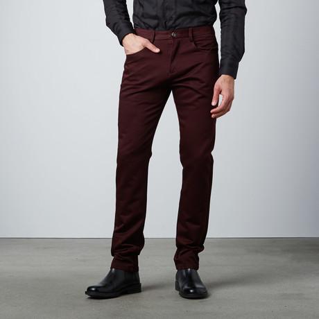 Stitched Waistband Pant // Burgundy
