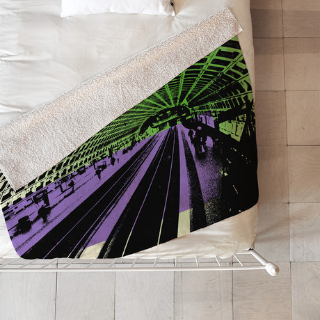DC Metro // Fleece Throw Blanket