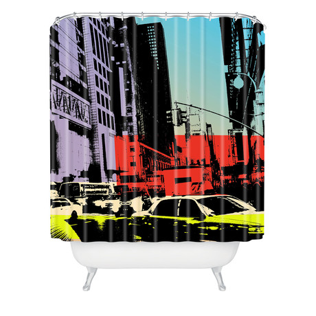 NY Streece 1 // Shower Curtain
