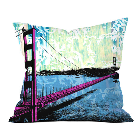 Golden Gate // Throw Pillow