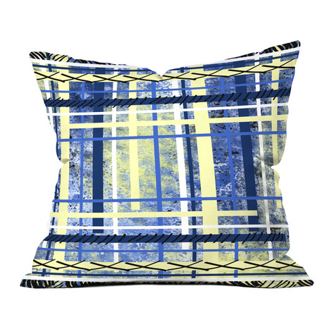 Blue and Yellow Obsession // Throw Pillow