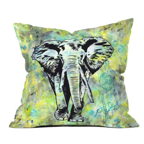The Tough Elephant // Throw Pillow