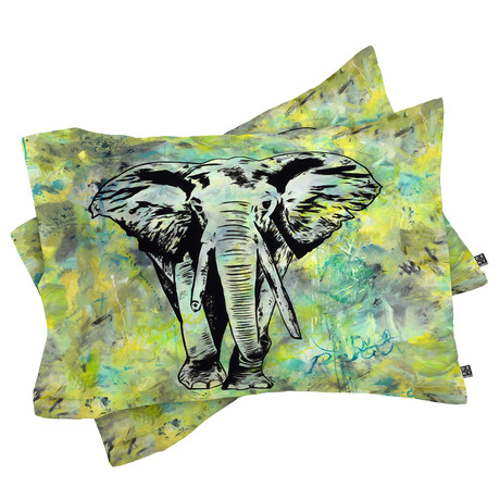The Tough Elephant // Pillow Case // Set of 2