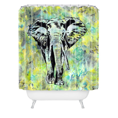The Tough Elephant // Shower Curtain
