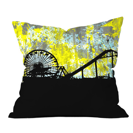 Santa Monica CA // Throw Pillow