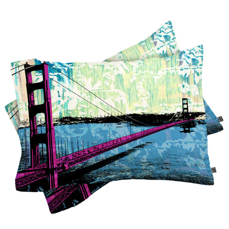 Golden Gate // Pillow Case // Set of 2