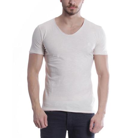 Droped Collar T-Shirt // Ecru