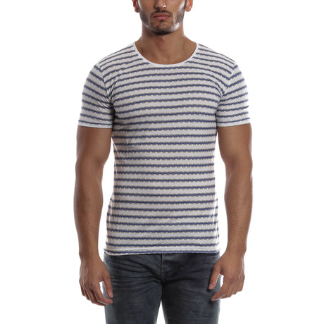 Short-Sleeve Striped Shirt // White