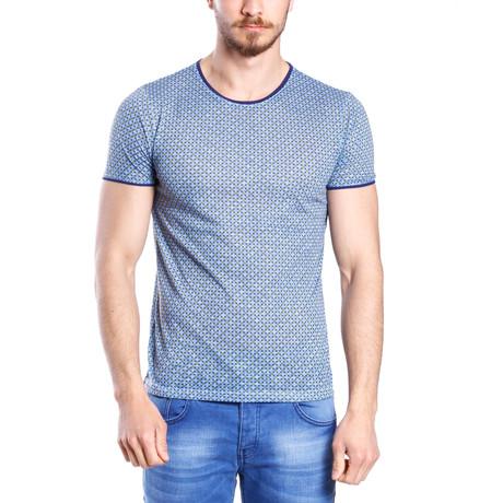 Diamond Print T-Shirt // Blue