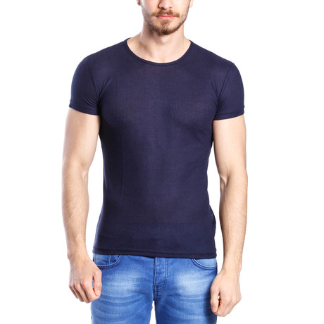 Solid Thin T-Shirt // Navy