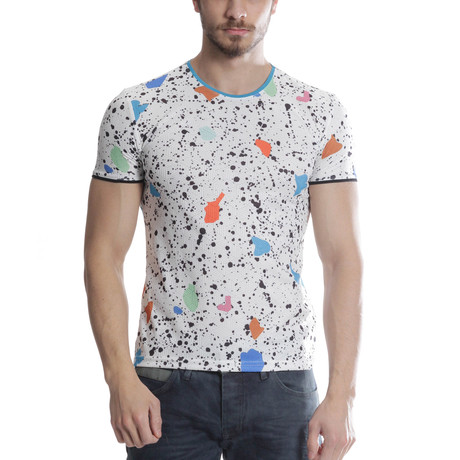 Paint Splatter T-Shirt // White