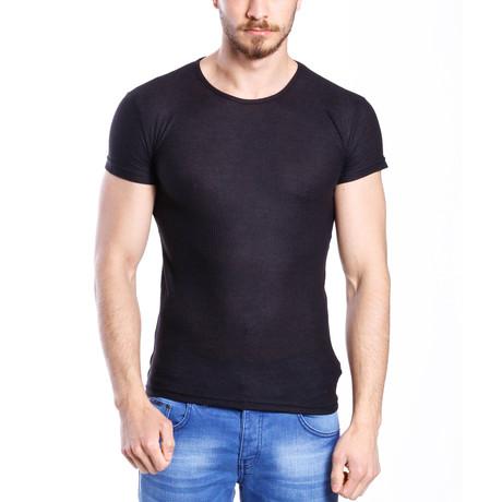 Solid Thin T-Shirt // Black